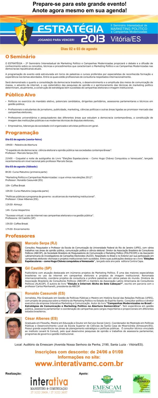 Curso de Marketing Político em Vitória